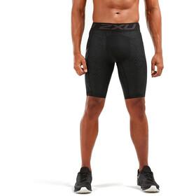 2XU Print Accelerate G2 Textured Mesh Pantalones cortos de compresión Hombre, camo teal/black